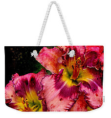 Weekender Tote Bag featuring the photograph Spring Blooms by Davandra Cribbie