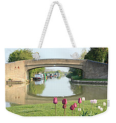 Spring On The Oxford Canal Weekender Tote Bag by Linsey Williams