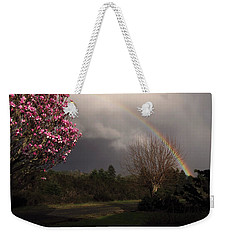 Spring Rainbow Weekender Tote Bag by Katie Wing Vigil