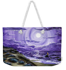 Spying A Mermaid From Flowering Sand Dunes Weekender Tote Bag