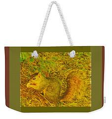 Squirrel Under My Tree Weekender Tote Bag by Lenore Senior