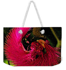 Weekender Tote Bag featuring the photograph St Kitts Flora by Cindy Manero