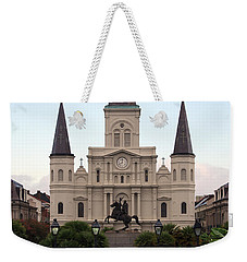 St Louis Cathedral On Jackson Square In The French Quarter New Orleans Weekender Tote Bag