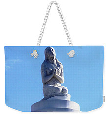 Weekender Tote Bag featuring the photograph St. Louis Cemetery Statue 1 by Alys Caviness-Gober
