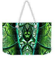 Weekender Tote Bag featuring the digital art Stained Glass by Mariella Wassing