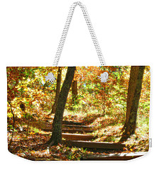 Weekender Tote Bag featuring the photograph Stairway To Heaven by Peggy Franz