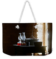 Weekender Tote Bag featuring the photograph Standing In The Shadow Of Time by Vicki Pelham