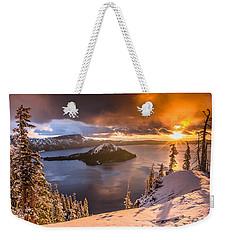 Starburst Sunrise At Crater Lake Weekender Tote Bag