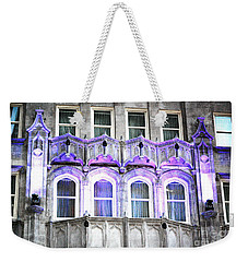 Weekender Tote Bag featuring the photograph Stark Blue by Shawn O'Brien