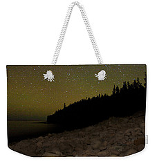 Weekender Tote Bag featuring the photograph Stars Over Otter Cliffs by Brent L Ander