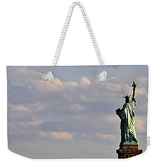 Weekender Tote Bag featuring the photograph Statue Of Liberty by Zawhaus Photography