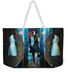 Steel Eyes Mannequin Weekender Tote Bag by Rosa Cobos