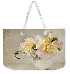 Still Life With Peonies Weekender Tote Bag