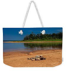 Stones On The Beach Weekender Tote Bag by Doug Long