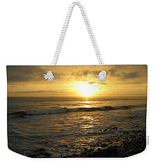 Storm At Sea Weekender Tote Bag by Bruce Carpenter