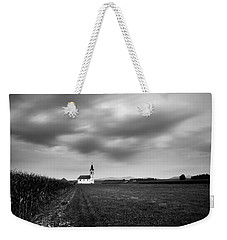 Storm Clouds Gather Over Church Weekender Tote Bag