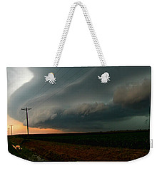 Weekender Tote Bag featuring the photograph Storm Front by Debbie Portwood