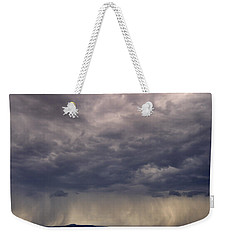 Storm Over The Mesa Weekender Tote Bag
