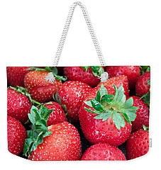 Strawberry Delight Weekender Tote Bag by Sherry Hallemeier