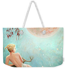 Strawberry Moon Nymph Weekender Tote Bag
