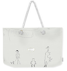Street Apparition Weekender Tote Bag by Kevin McLaughlin