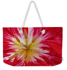 Striped Flaming Tulips. Hot Pink Rio Carnival Weekender Tote Bag