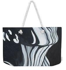 Weekender Tote Bag featuring the painting Stripes by Julie Brugh Riffey