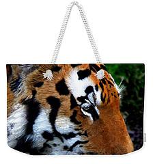 Weekender Tote Bag featuring the photograph Sumatran Strength by Davandra Cribbie