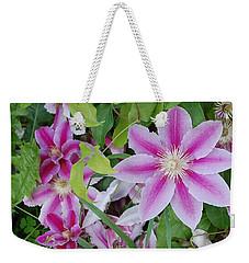 Summer Clematis Weekender Tote Bag