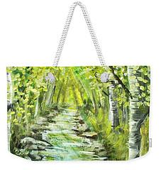 Weekender Tote Bag featuring the painting Summer by Shana Rowe Jackson