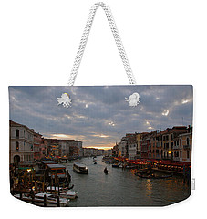 Sun Sets Over Venice Weekender Tote Bag by Eric Tressler