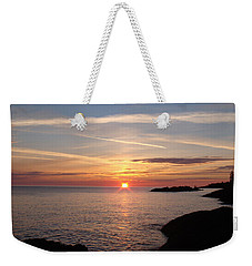 Weekender Tote Bag featuring the photograph Sun Up On The Up by Bonfire Photography