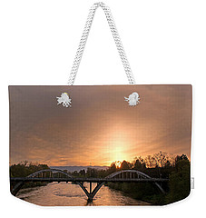 Sunburst Sunset Over Caveman Bridge Weekender Tote Bag