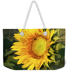Weekender Tote Bag featuring the digital art Sunflower Digital Art by Deniece Platt