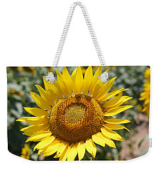 Weekender Tote Bag featuring the photograph Sunflower by Donna  Smith