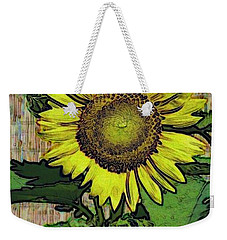Sunflower Face Weekender Tote Bag by Alec Drake