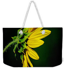 Weekender Tote Bag featuring the photograph Sunflower In Profile by Vicki Pelham
