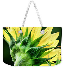Sunflower With Bee Weekender Tote Bag by Lynne Jenkins