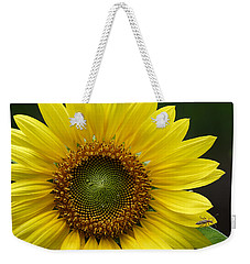Sunflower With Insect Weekender Tote Bag by Daniel Reed