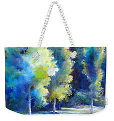 Sunlit Trees Weekender Tote Bag by Bonnie Goedecke