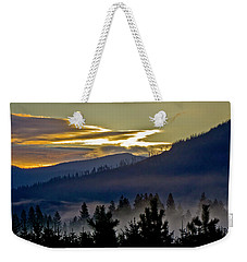 Sunrise And Valley Fog Weekender Tote Bag by Albert Seger