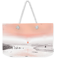 Weekender Tote Bag featuring the photograph Pastel Sunrise Beach by Tom Wurl