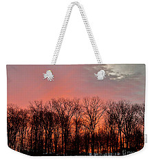 Weekender Tote Bag featuring the photograph Sunrise Behind The Trees by Mark Dodd