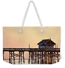 Weekender Tote Bag featuring the photograph Sunrise On Rickety Pier by Janie Johnson