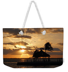 Weekender Tote Bag featuring the photograph Sunrise Over Bay by Clara Sue Beym