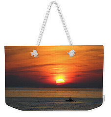 Weekender Tote Bag featuring the photograph Sunrise Over Gyeng-po Sea by Kume Bryant