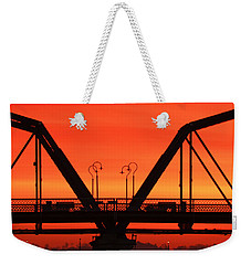 Sunrise Walnut Street Bridge Weekender Tote Bag