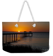 Sunset Across Currituck Sound Weekender Tote Bag by Ronald Lutz