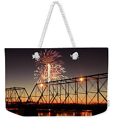 Sunset And Fireworks Weekender Tote Bag
