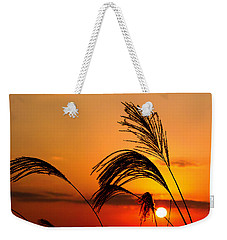 Sunset And Pampus Weekender Tote Bag by Jocelyn Kahawai